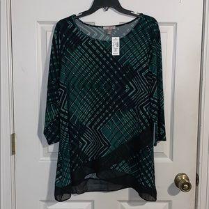 NWT Roz&Ali blouse